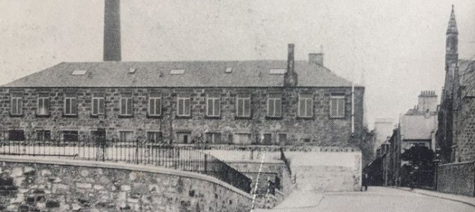 A photograph from the 1940's looking up over the lower bus station towards Dunfe…