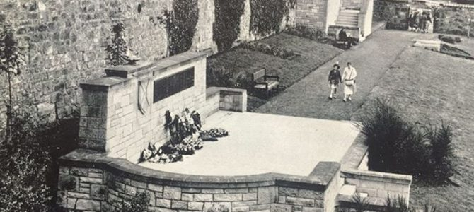 Old photograph of Bee Alley Gardens.
