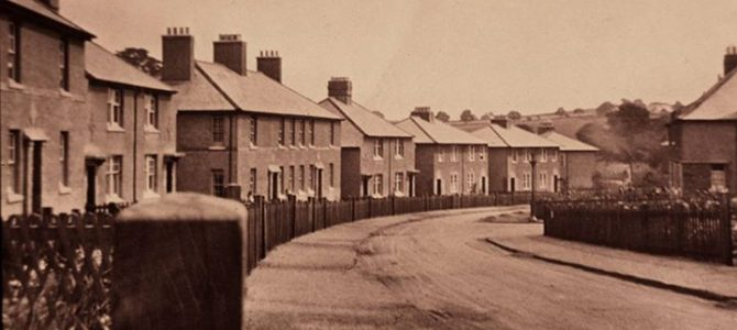 Photograph of Frederick Crescent in Dunfermline taken around 1925.