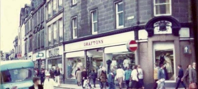 Photograph of Graftons on the corner of the New Row and the High Street which is…