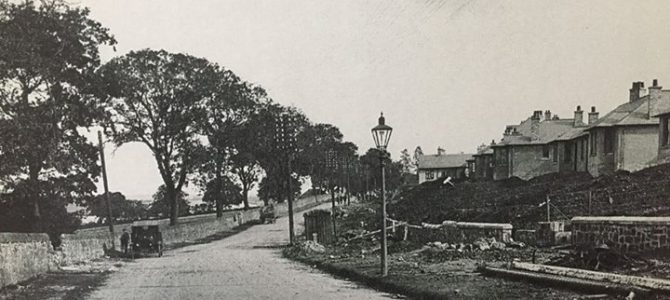 Photograph of Aberdour Road in the 1920's before the houses on the north side of…