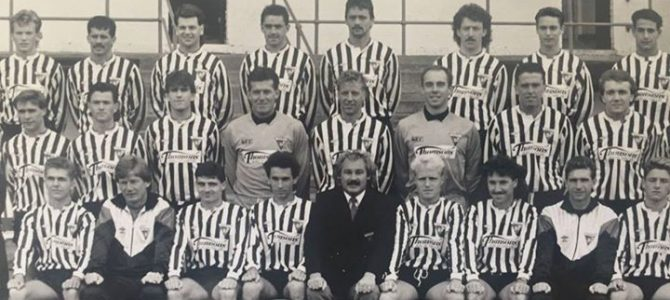 Photograph of the Dunfermline team of 1988 managed by Jim Leishman.